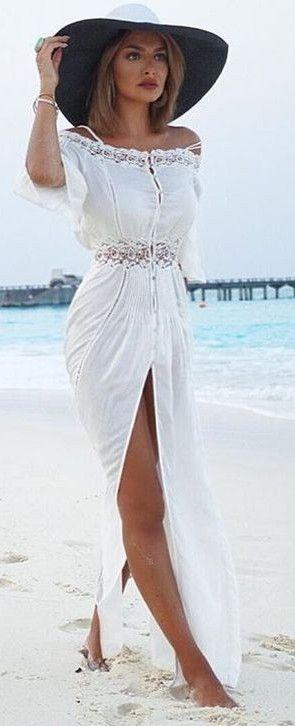 White Maxi Dress                                                                             Source