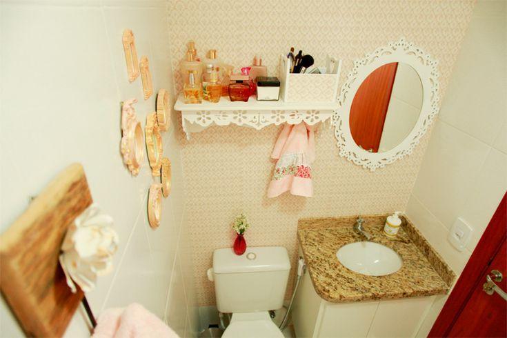 Decorando um pequeno banheiro