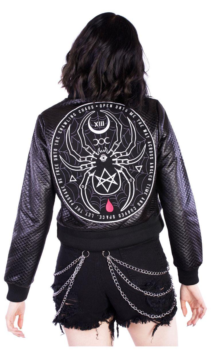 Black Widow Bomber Jacket by Disturbia