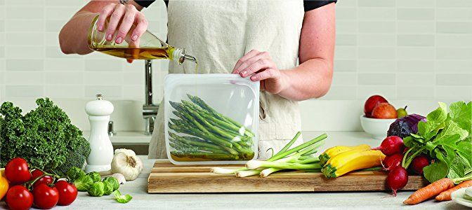 Amazon.com: Stasher Reusable Silicone Food Bag, Sandwich Bag, Sous vide Bag, Storage Bag, Clear: Amazon Launchpad