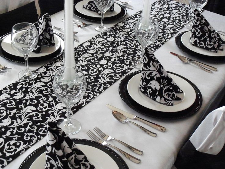 17 Images About Damask Table Runners On Pinterest