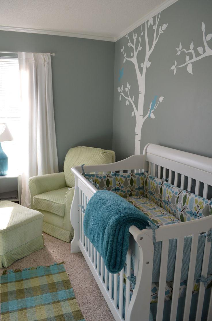 Colors - grey aqua green nursery