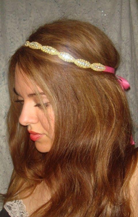 Athena Rhinestone Headband Headband Halo headband by Luciabella1, $32.00