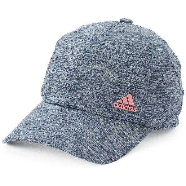 Women's Adidas Studio Baseball Hat ($20) ❤ liked on Polyvore featuring accessories, hats, med blue, ball cap, adjustable ball caps, blue baseball hat, blue hat and adjustable hats
