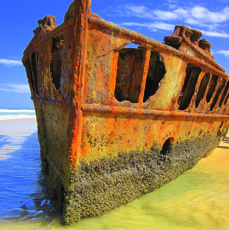 Amazing Rusty Finds - #searchlocated - Maheno Shipwreck Australia by JubileeImagery (Etsy)