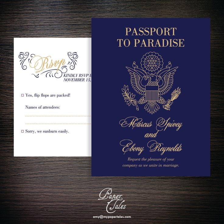 Navy Blue and Gold Glitter Passport Destination