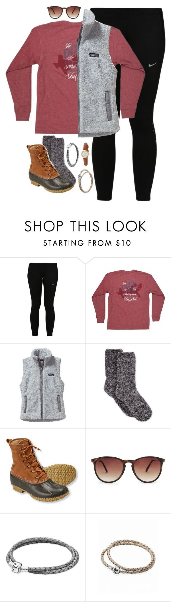 """let's get out of this town, drive out of the city, away from the crowds"" by preppy-classy ❤ liked on Polyvore featuring NIKE, Patagonia, Charter Club, L.L.Bean, MANGO, Pandora and Kate Spade"