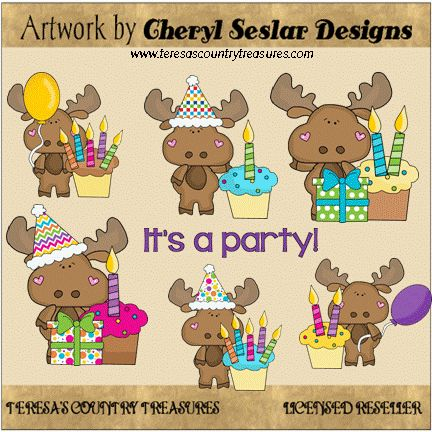 Little #Moose #Birthday Wishes #Clipart