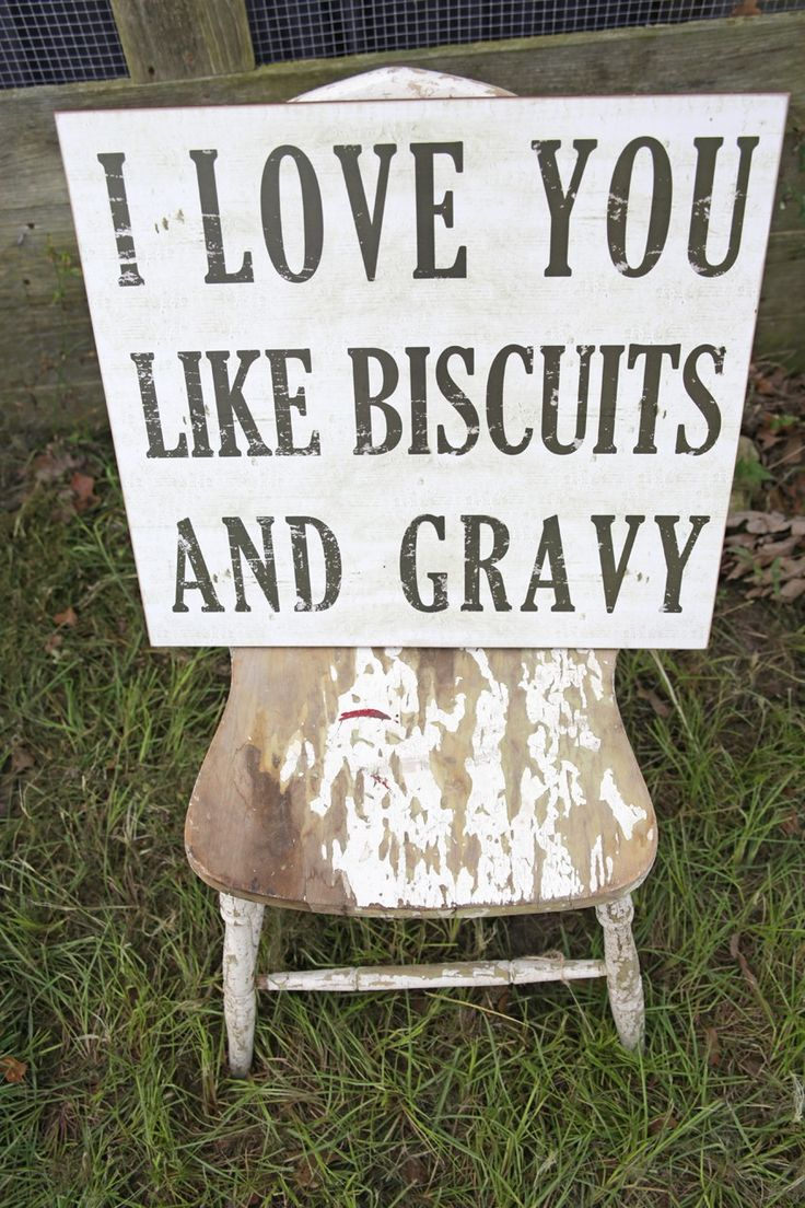 i love you like biscuits and gravy wall  plaque // junk gypsy co