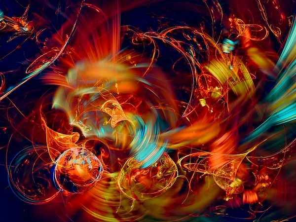 Fire storm. Abstract art by Marfffa Art