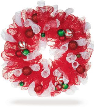Decorative Mesh Holiday Wreath