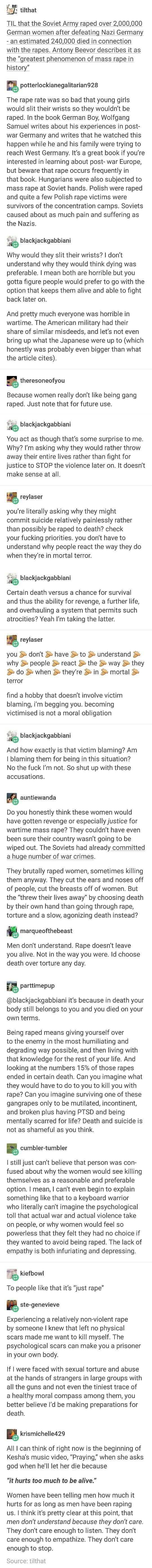 """Rape doesn't leave you alive. Not in the way that you were."""