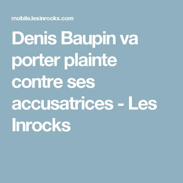 Denis Baupin va porter plainte contre ses accusatrices - Les Inrocks