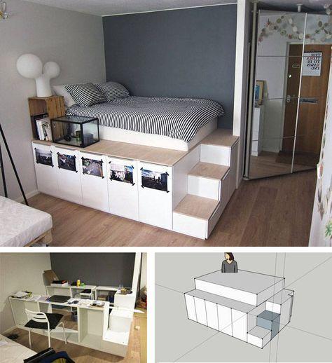 die besten 25 bett mit stauraum ideen auf pinterest. Black Bedroom Furniture Sets. Home Design Ideas