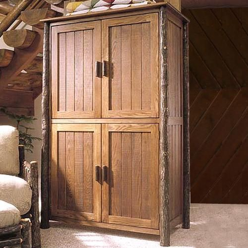 Classic Entertainment Center by Flat Rock Furniture at Rocky Mountain Decor - For game storage only...No TVs in the mountain home!!
