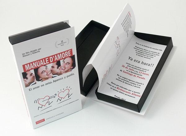 DE PELICULA  Invitación en caja imitando las antiguas cintas vhs