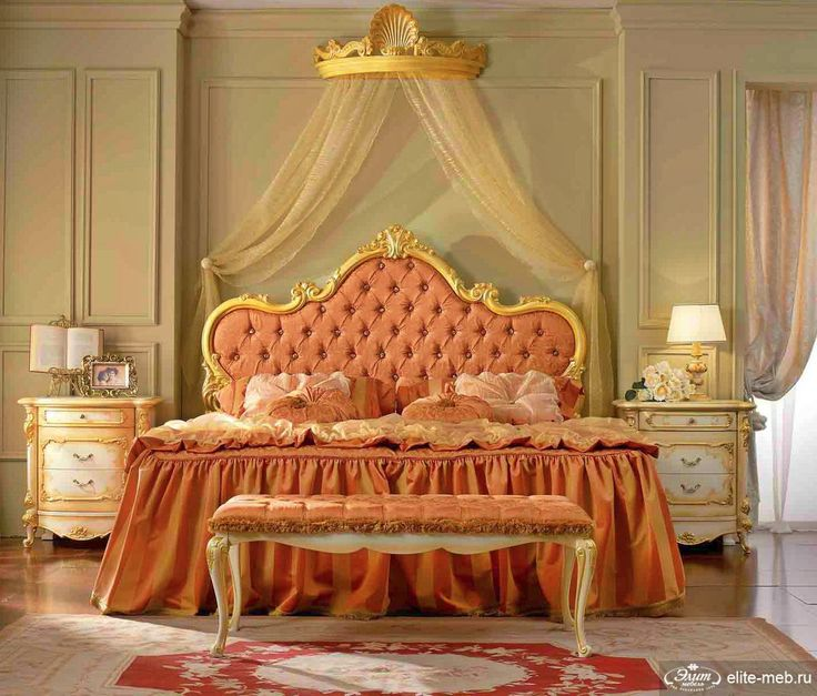 Peach Gold Bedroom ⓛⓞⓥⓔ ♡ ♡ Peach Bedroom Interior