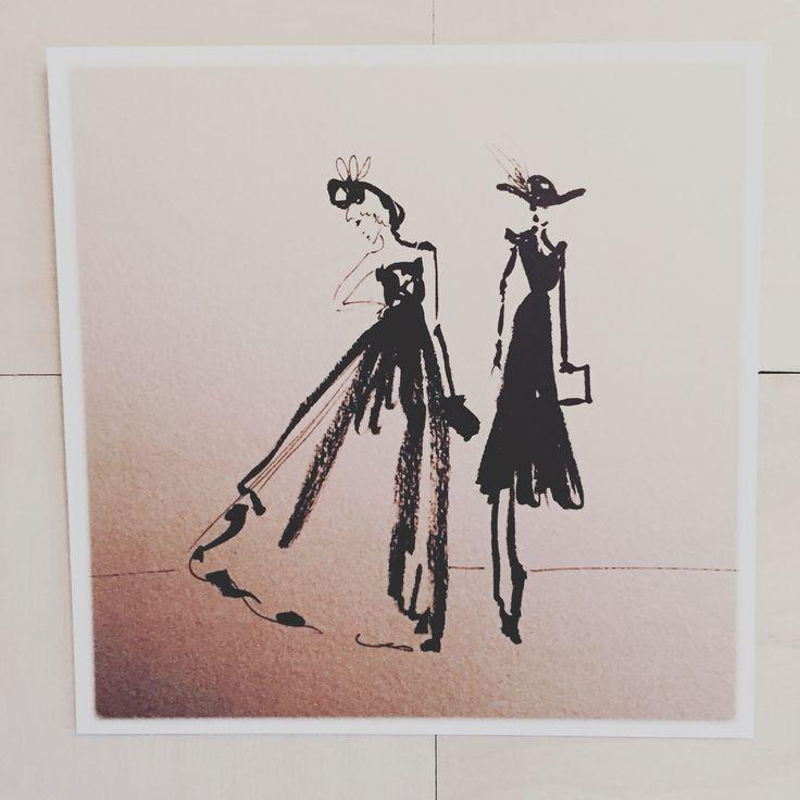 Postkort til salg 14 x 14 cm pris 30 dkr illustration af Anna Gabriella order by Writing to Contact@annagabriella.dk