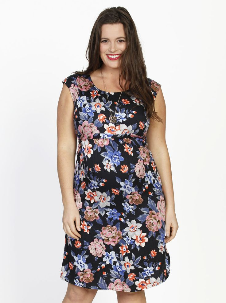 Tie Back Short Sleeve Summer Dress - Floral Print, $69.95, down to $39.95,  is a gorgeous dress that can be dressed up with strappy black heels for a festive function.