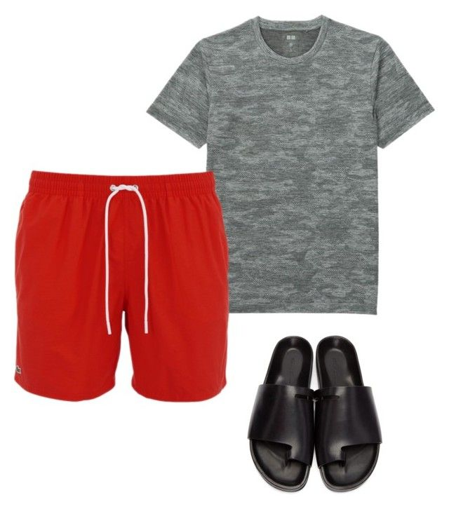 """""""dad"""" by luziagalvang on Polyvore featuring Uniqlo, Lacoste, Rick Owens, men's fashion y menswear"""