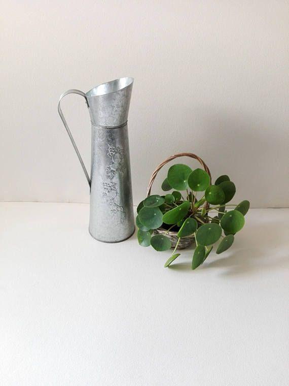 Broc vintage en zinc galvanisé déco jardin ustensile jardin