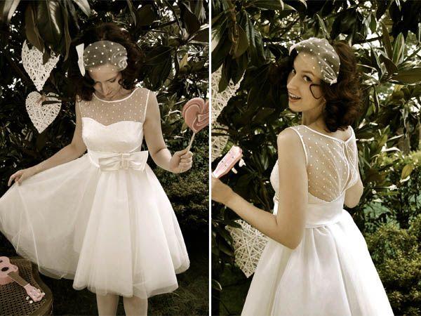 50s polka dot wedding dress www.nadiamanzato.com