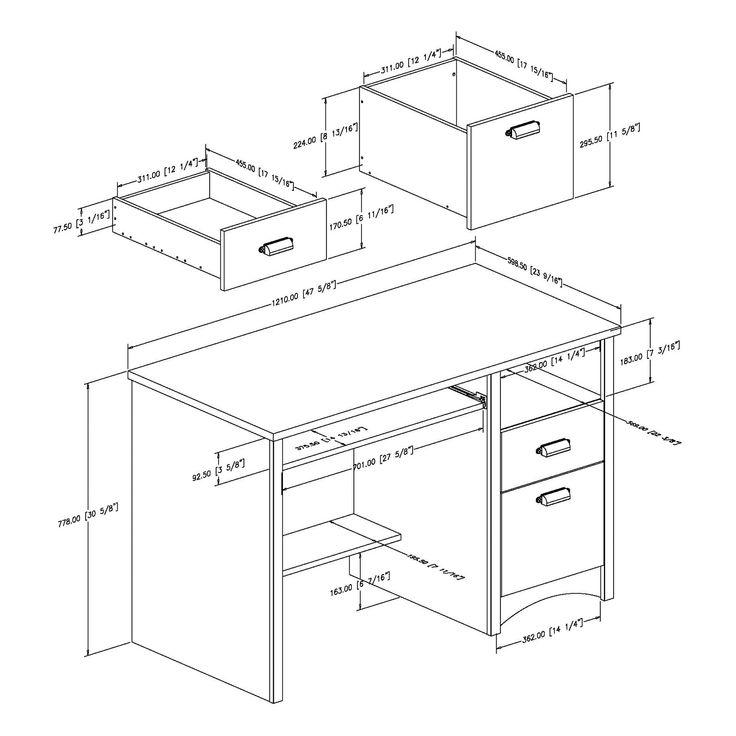 Best 25 Desk dimensions ideas on Pinterest Buy desk Tall desk