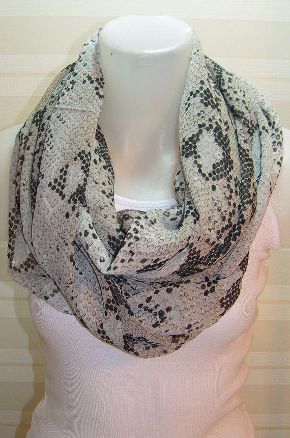 ON SALE  Animal printed snake pattern scarfloop by BalMelek, $11.90