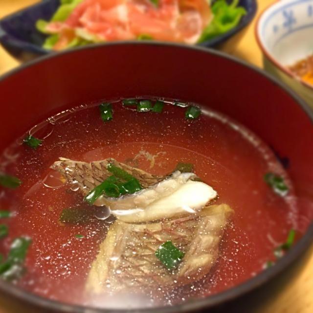 六本木ミッドタウンの茅乃舎で✨高級✨出汁パックを購入。感激の美味しさです(≧∇≦) - 24件のもぐもぐ - 茅乃舎の出汁で鯛のお吸い物 by masaki0516