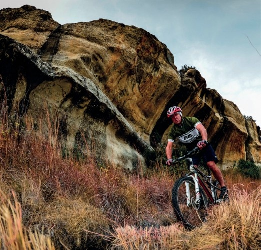 Mountain-bike trails on Bokpoort Holiday Farm in the Free State. Although the routes at Bokpoort are extremely steep, much of the riding is doable.