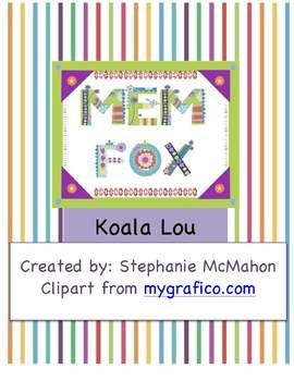 FREE- Koala Lou by Mem Fox lesson plan pack. This includes a book introduction, vocabulary sheet, before, during and after read aloud instructions, story structure sheet, cut out and sequence piece, a connection mini-lesson and a strong connections sheet.