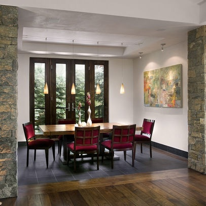 Image Detail For Dining Room Wood Floor Stone Floor