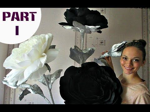 Arrangement of roses   Black and white roses. Part 1 - YouTube