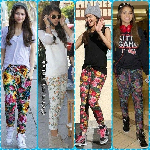 ZENDAYA FLORAL PANTS LOOKS ◀◀◀#zendaya #floral #floralpants #lookbook #style #lookbooknu #stylish #instastyle #fashion #fashionista #instafashion #love #ootd #shoes #hair #outfit #elegant #dainty #sunglasses #heels #miumiu #topshop #mango #zara #hermes #mint #neon #celebrity #streetstyle #streetfashion... - Celebrity Fashion