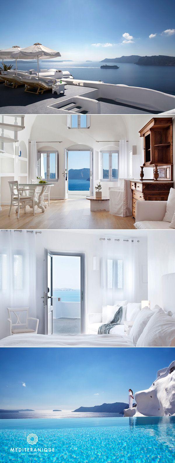 Katikies Hotel, Santorini, Greece http://www.mediteranique.com/hotels-greece/santorini/katikies-hotel/
