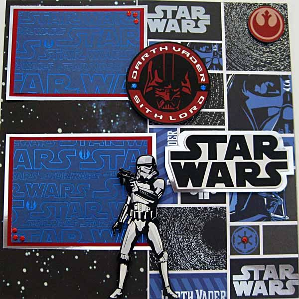 Disney's Star Wars Weekend Scrapbooking Layout Page