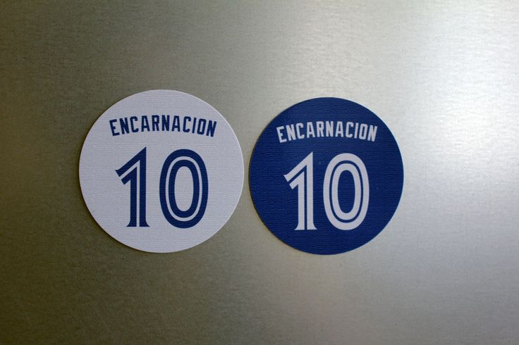 Toronto Blue Jays Magnets Edwin Encarnacion #10 - Home and Away Jersey Design #TorontoBlueJays