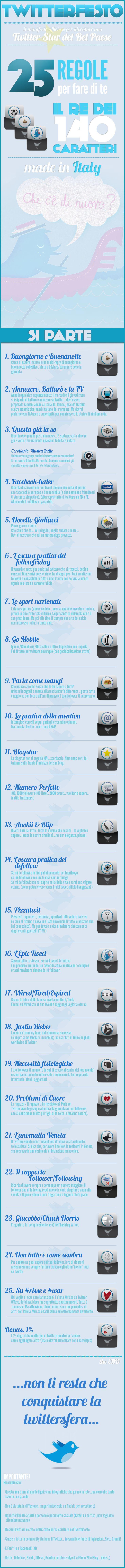Twitterfesto - Manifesto ufficioso per diventare una Twitstar del Bel Paese