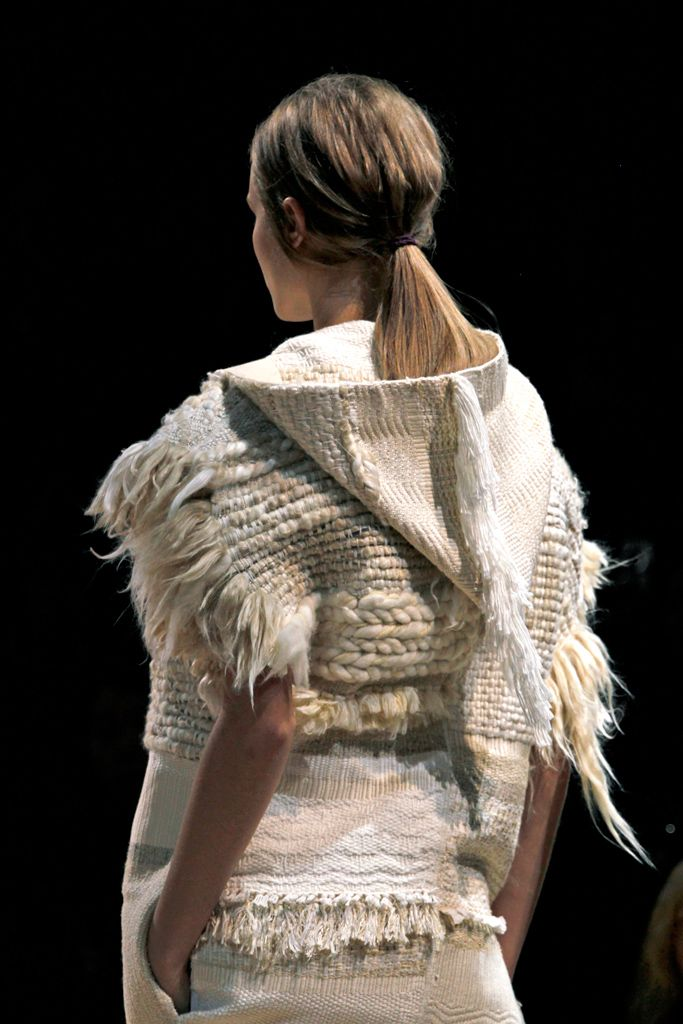 Knitted top with mixed textures; contemporary knitwear details // Celine Spring 2011 Más