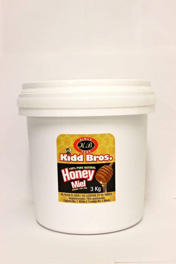 PAILS OF HONEY!! Western Sage & KB Honey (aka Kidd Bros), Large tubs available in Liquid, Creamed, & Crystallized.  Available in 3kg, 5kg, 7kg, 15kg, and 32kg tubs  Ingredients:  100% Pure Canada No. 1 White Natural Honey #bulkhoney #natural #raw #nongmo #gmofree #glutenfree #kosher #koshercheckcertified #cfiaapproved #honey #healthfood #bclocal #localproducts #WesternSage #kiddbros #kbhoney #wshoney #straightfromthefarm #farmfresh #remedies #beeproducts #homeofglacierhoney #glacierhoney