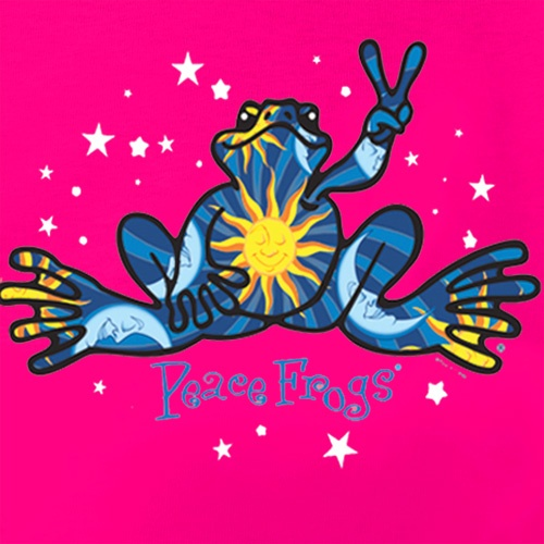 Peace frogs night and day short sleeve kids t shirt