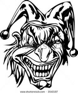 evil clown halloween coloring pages - photo#1
