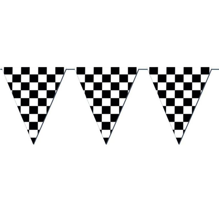 Racing Checkered Flag Pennant Party Banner - Easy decorations for a Blaze & the Monster Machines theme