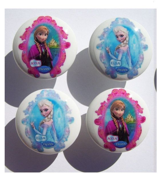 4 Princess Elsa And Anna Frozen Dresser Drawer Knobs Mom