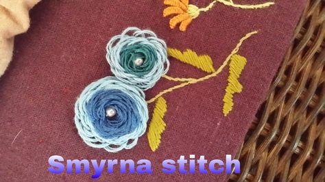 *홍진하의자수클래식 Smyrna stitch (스미르나 스티치)자수기법 독학으로 배우기 동영상