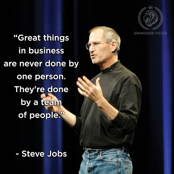 The key characteristics of a team that works together - Swagger Media Blog #stevejobs #quotes #teamwork