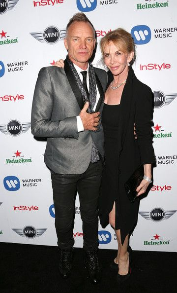 Sting Trudie Styler Photos: Warner Music Group's 2013 Grammy Celebration - Arrivals