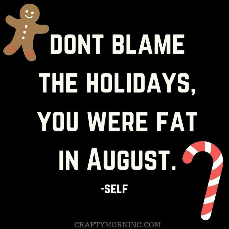Don't blame the holidays you were fat in August! Funny christmas meme quote