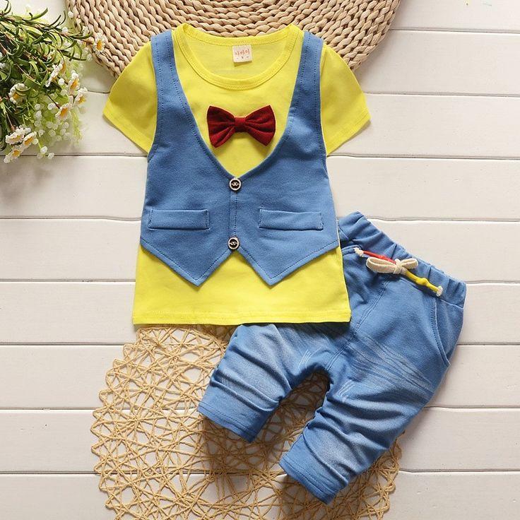 Summer Cute Mini Gentleman Baby Boy Clothing Set