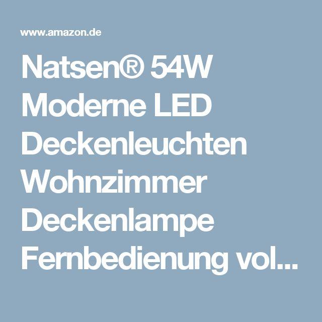 NatsenR 54W Moderne LED Deckenleuchten Wohnzimmer Deckenlampe Fernbedienung Voll Dimmbar Lampe 650mm650mm